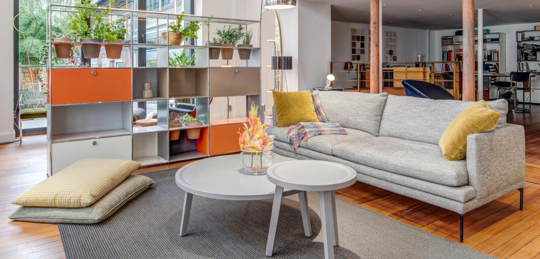 showroom de mobilier contemporain